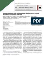 Eastern Extension of Azoles as Non Nucleoside Inhibitors of HIV 1 Reverse Transcriptase; Cyano Group Alternatives 2010 Bioorganic & Medicin