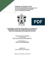 Biologia Ambiental, Una TESIS de Maestria. Ambiental MAYA - Tellez_Sanchez_Leticia