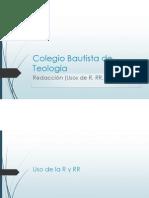 Colegio Bautista de Teología- Redaccion