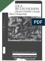 TA1, Realismo, Hans Morgenthau. Política Entre Las Naciones (Cap 1-3)