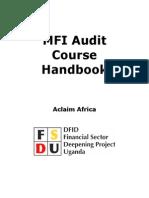 MFI Audit Course Manual1