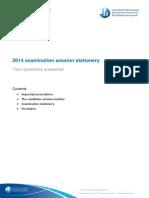May 2014 Examination Session Stationery