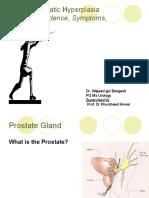 Benign Prostatic Hyperplasia Etiology, Incidence, Symptoms, Evaluation.