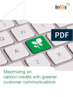Maximizing on Carbon Credits With Greener Customer Communications