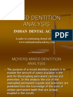 Mixed Dentition Analysis / orthodontic courses by Indian dental academy