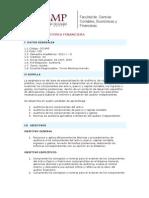 Auditorìa Financiera - Syllabus - 2010-1