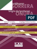 Enplegu publikoa, kartela+eskuorria