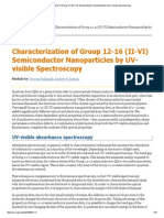 Characterization of Group 12-16 (II-VI) Semiconductor Nanoparticles by UV-Visible Spectroscopy