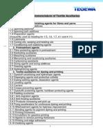 TEGEWA Nomenclature of Textile Auxiliaries
