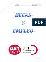 Boletín de Becas y Empleo. Semana Del 19 de Mayo de 2014