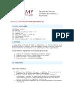 Mètodos Cuantitativos II - Syllabus