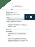 Microeconomìa - Syllabus