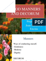 Good Manners and Decorum Jean Report
