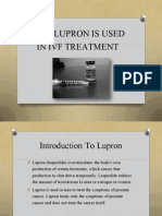 Why Lupron is Used in IVF Treatment