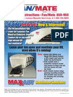FanMate 850-950 Installation Instructions