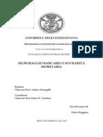 Fabio Maggiore - Signoraggio Bancario e Sovranità Monetaria
