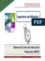 M5.2 IM I - USMP - Balance de Líneas de Fabricación - Producción Simple