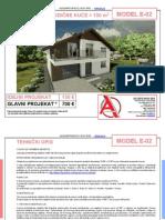MODEL E 02 Gotovi Projekti Vec Od 50e Projekti Projektovanje Izrada Projekata House Design House Ideas House Plans Interior Design Plans House Designs House