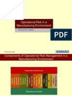 Operational Risk in Manufacturing