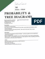 GCSE Maths Topics - Tree Diagram -  Answers