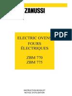 Zanussi Zbm770w