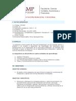 Tributaciòn Municipal y Regional - Syllabus - 2010-1