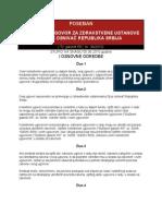 POSEBAN Kolektivni Ugovor Za Zdravstvene Ustanove Ciji Je Osnivac Republika Srbija