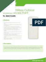 TL-WA7210N V2 Datasheet