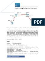 Brief Talk on Static Routing Configuration Experiment