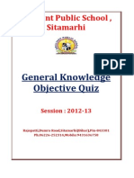 General Knowledge Objective Quiz