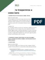 Trasparenza a Costo Zero