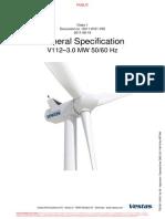 Technische Specificatie Windturbine Vestas v 112-3.0 MW 5060 Hz
