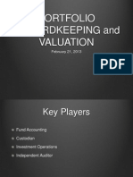 Portfolio Recordkeeping and Valuation