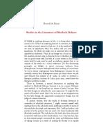 Studies in the Literature of Sherlock Holmes - Ronald Knox