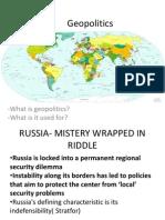 Geopolitics - Russia