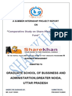 """""""Comparative Study on Share Market & Mutual Fund"""""""