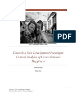 Towards a New Development Paradigm