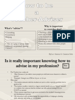How to Be a Teacher Advisor