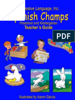 Preschool Spanish Curriculum Sample