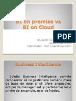 BI on Premise vs BI on Cloud