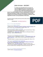 Atlier de Lecture - 2012-2013