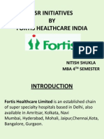 Nitish Shukla Fortis Health Care