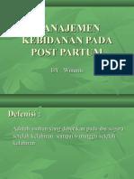 Manajemen Kebidanan Pada Post Partum