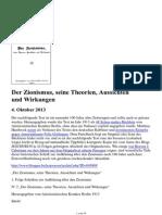 Der Zionismus, Seine Theorien, Aussichten Und Wirkungen