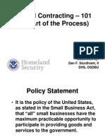 Federal Contracting - 101 OSDBU 2013 Presentation-Sturdivant
