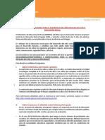 Directiva Sobre Orientaciones Año Escolar 2013