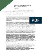 Consecuencias de La Independencia de Centroamerica y Nicaragua