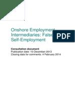 Onshore Employment Intermediaries - False Self Employment