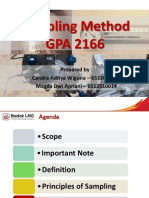 GPA Sampling Method (Scope,Definition,Principles,Safety)
