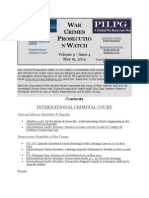 WAR CRIMES PROSECUTION WATCH